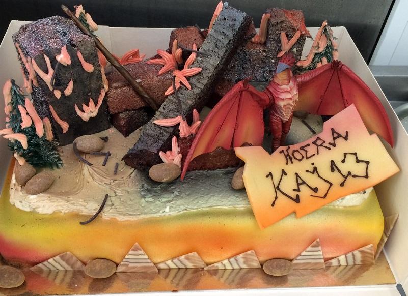 20x30 taart met draken