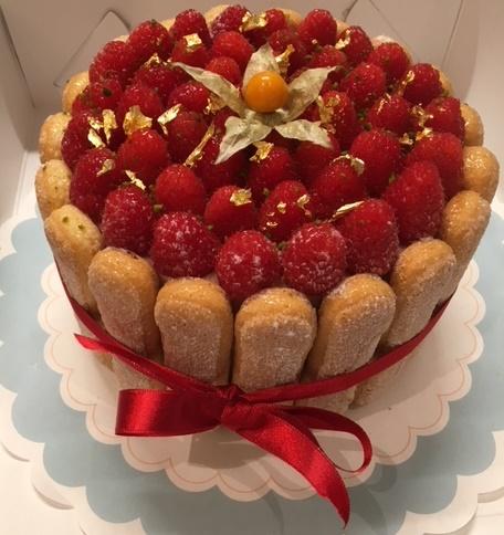 charlotte frambozen taart