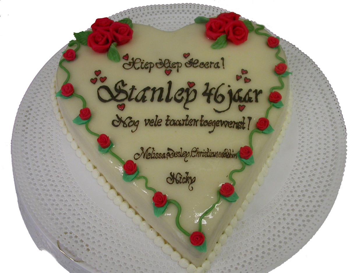 hartentaart verjaardag