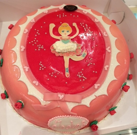 ronde taart met ballerina print
