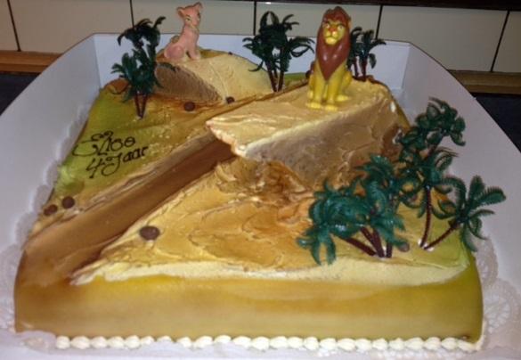 taart 30x30 lion king