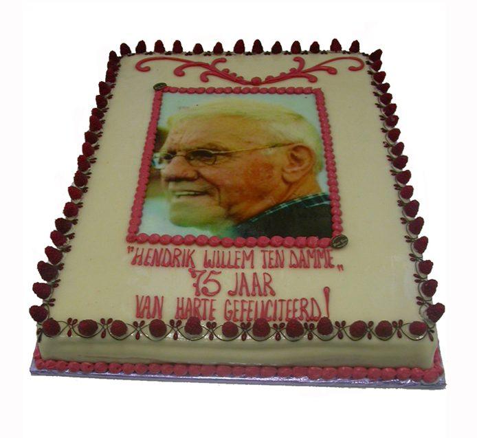 taart hendrik willem 75 jaar