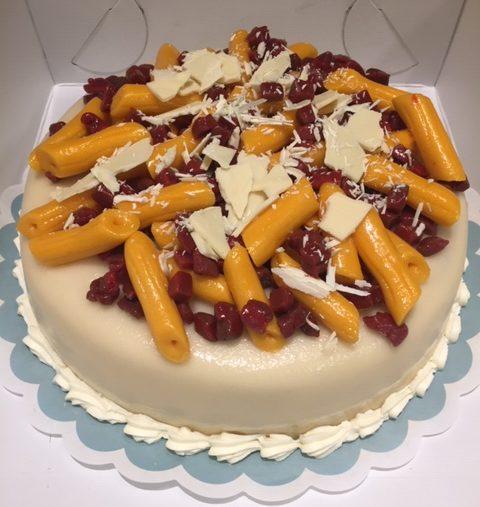 taart met pasta penne