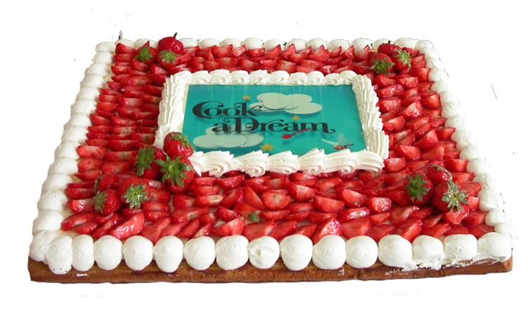 taart pencee aardbeien cook a dream